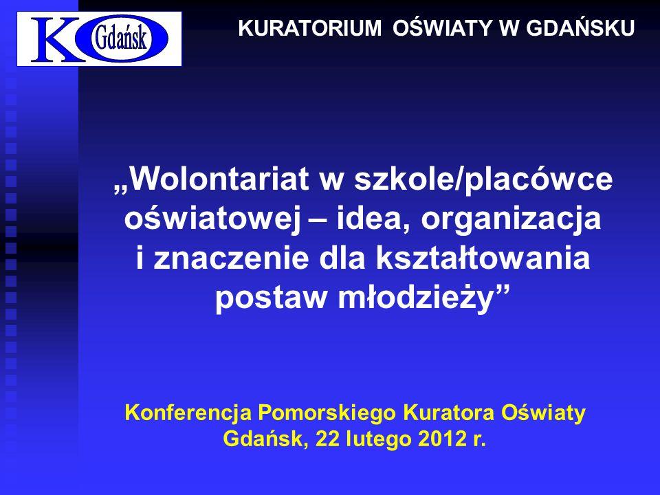 Program Konferencji 10.00 – 11.40 1.Powitanie zebranych i otwarcie konferencji – Pani Elżbieta Wasilenko, Pomorski Wicekurator Oświaty.