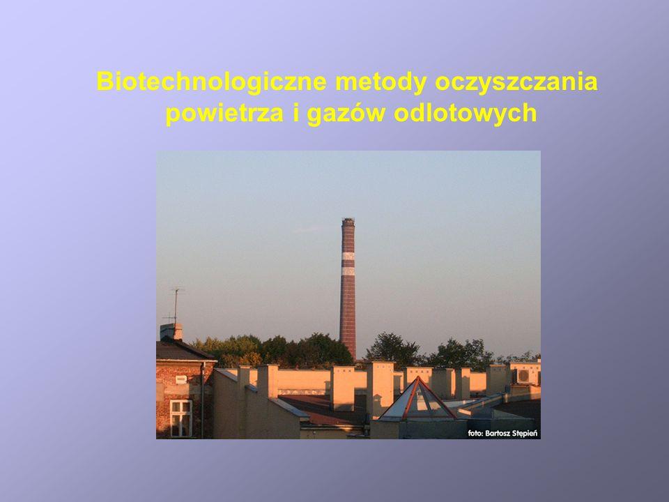 Biotechnologiczne metody oczyszczania powietrza i gazów odlotowych