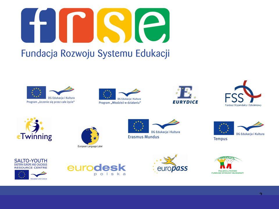 PROGRAM COMENIUSPROGRAM ERASMUS 13 Działania towarzyszące Cele: promowanie celów i wagi współpracy międzynarodowej w szkolnictwie wyższym; propagowanie wyników projektów erasmusowych wśród szerokiej grupy odbiorów; lepsze współpraca pomiędzy programami sektorowymi LLP w danym obszarze tematycznym.