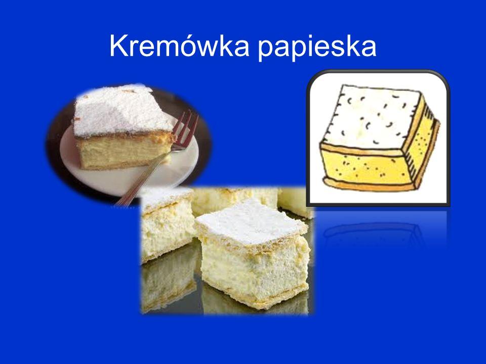 Ulubione ciastko papieża - słynna kremówka Od czasu pielgrzymki w Wadowicach w 1999 r. w cukierniach wadowickich są specjalne kremówki papieskie.