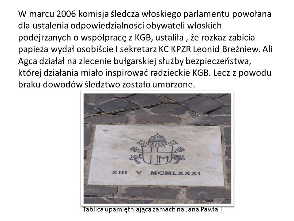 Istnieje wiele teorii na temat przyczyny zamachu na Jana Pawła II Jedną z nich był tzw.