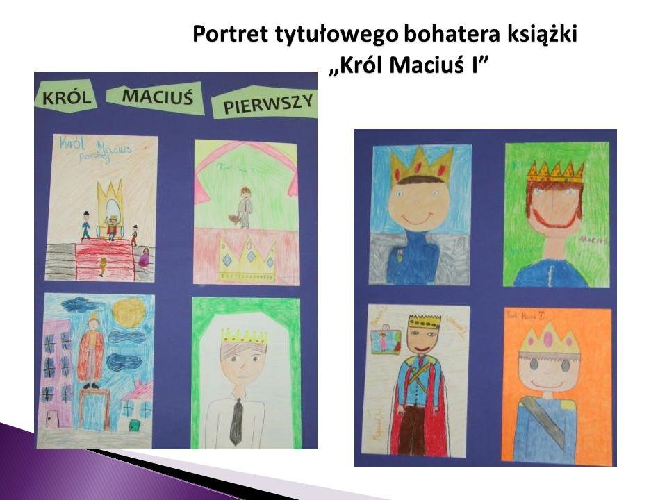 W projekcie wzięło udział 8 klas, które wybrały do opracowania następujące tematy: IIIa - Portret tytułowego bohatera książki Król Maciuś I IIIc - Pre