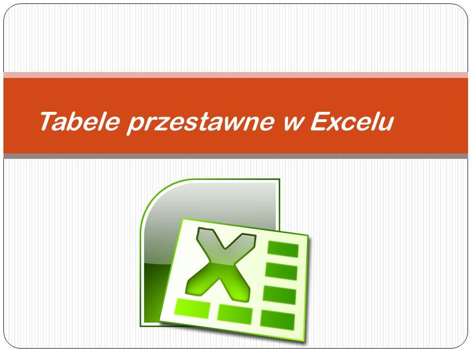 Krok 8.Proponuję dokonać teraz drobnej zmiany w danych wejściowych (Arkusz: Tabele przestawne 1).