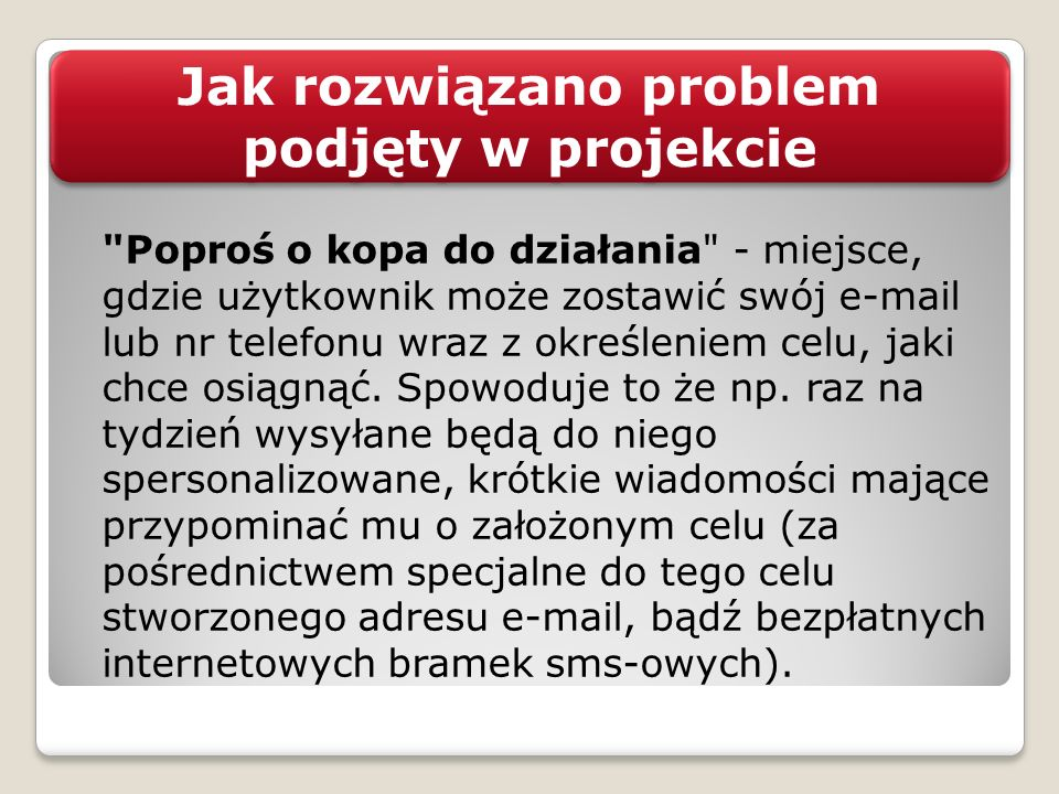 Jak rozwiązano problem podjęty w projekcie