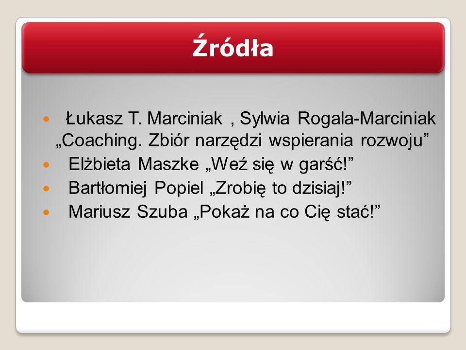 Łukasz T. Marciniak, Sylwia Rogala-Marciniak Coaching. Zbiór narzędzi wspierania rozwoju Elżbieta Maszke Weź się w garść! Bartłomiej Popiel Zrobię to