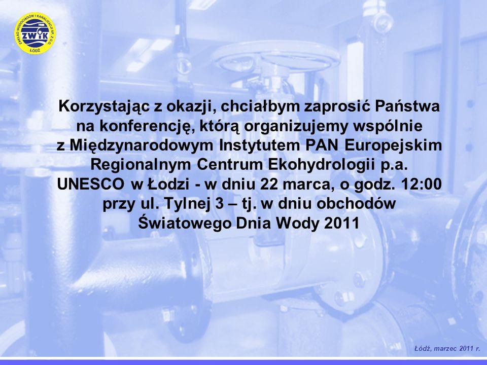 Łódź, marzec 2011 r. Korzystając z okazji, chciałbym zaprosić Państwa na konferencję, którą organizujemy wspólnie z Międzynarodowym Instytutem PAN Eur