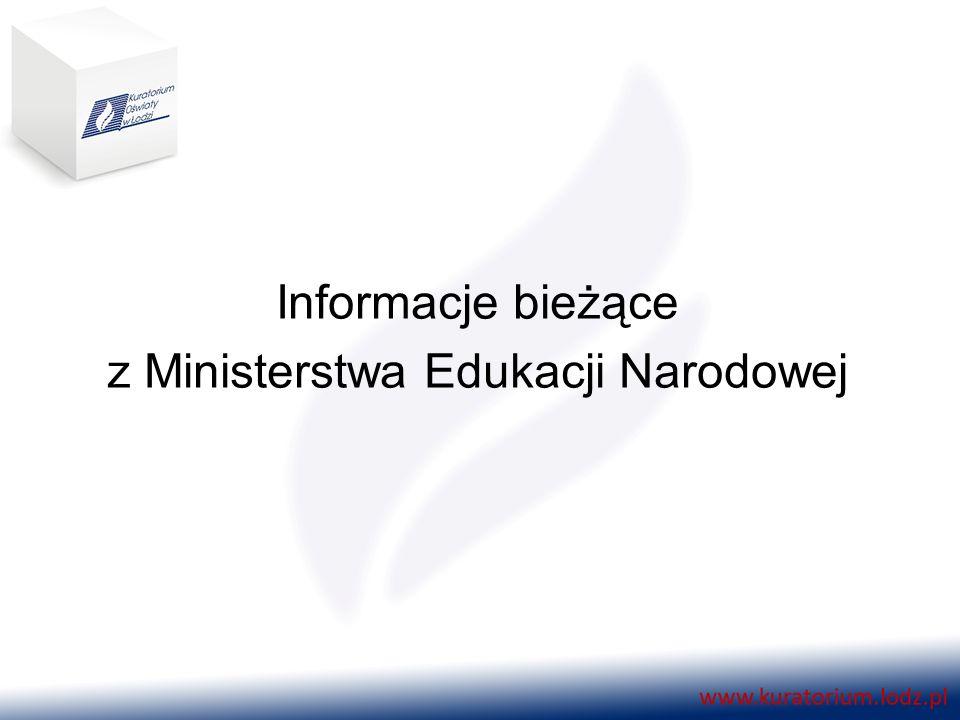 Informacje bieżące z Ministerstwa Edukacji Narodowej