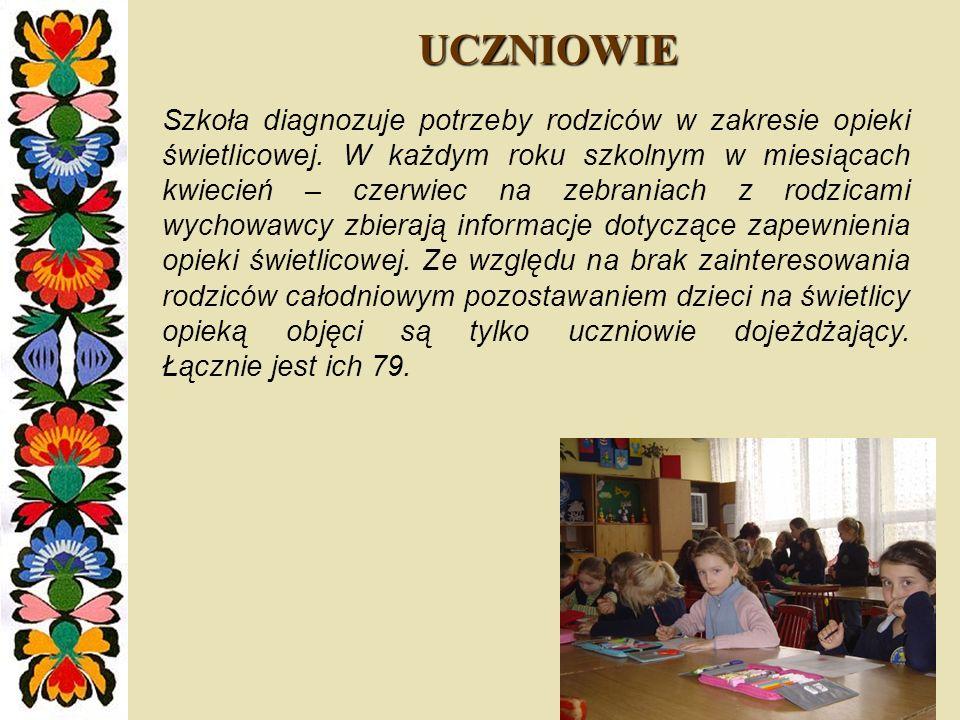 POMIESZCZENIE ŚWIETLICOWE W sali świetlicowej odbywają się zajęcia zarówno dla dzieci z klas I – III jak i IV – VI.
