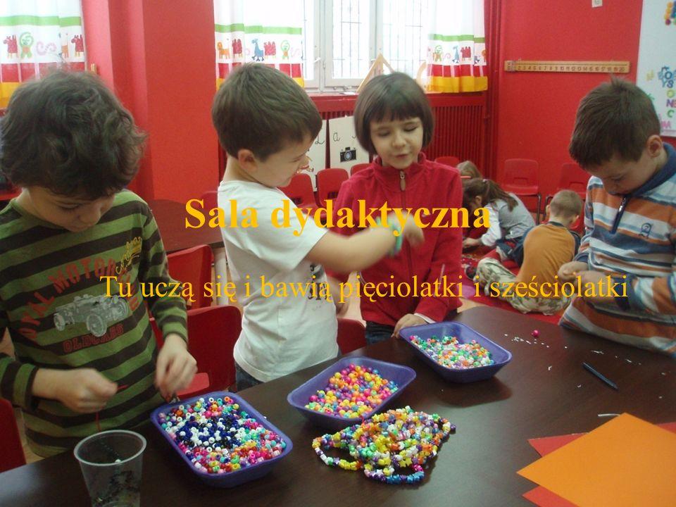 Sala dydaktyczna Tu uczą się i bawią pięciolatki i sześciolatki