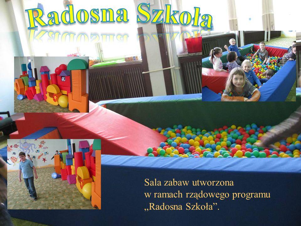 Sala zabaw utworzona w ramach rządowego programu Radosna Szkoła.