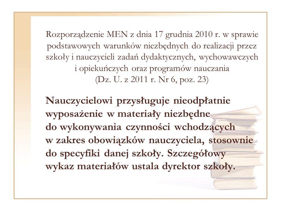 Rozporządzenie MEN z dnia 17 grudnia 2010 r.