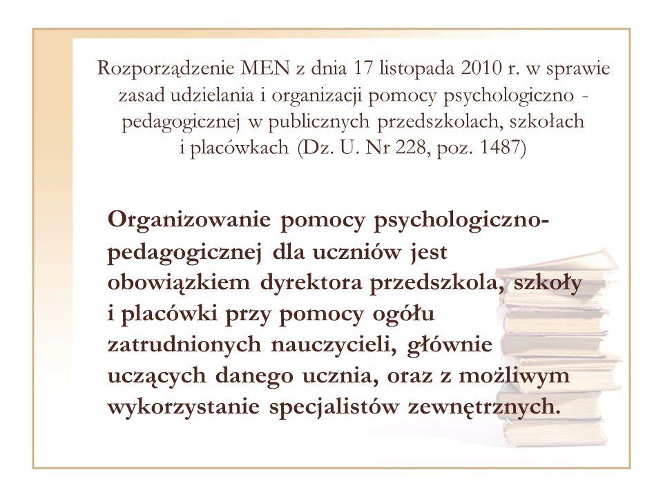 Rozporządzenie MEN z dnia 17 listopada 2010 r.