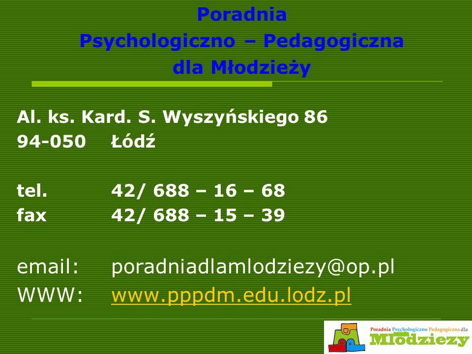 Poradnia Psychologiczno – Pedagogiczna dla Młodzieży Al.