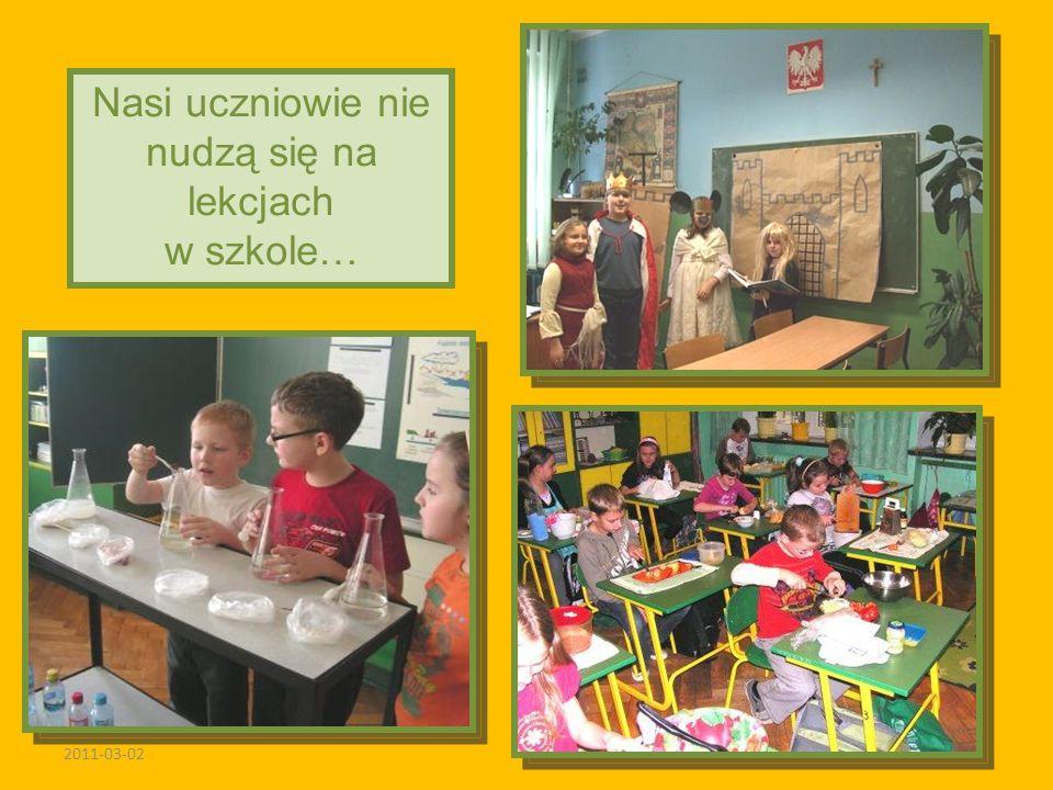 2011-03-02 Nasi uczniowie nie nudzą się na lekcjach w szkole…