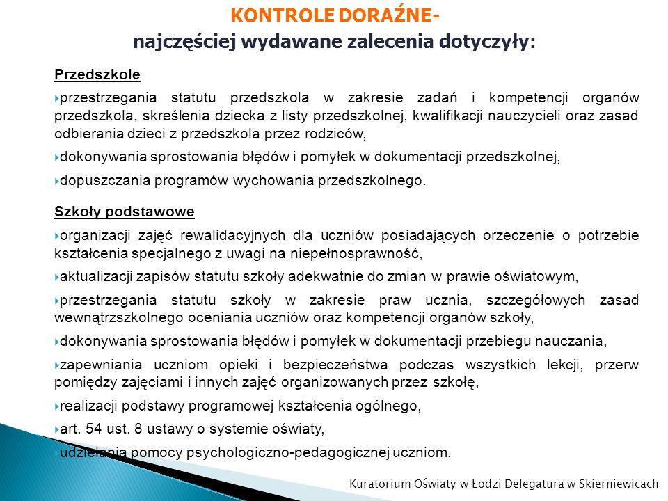 Przedszkole przestrzegania statutu przedszkola w zakresie zadań i kompetencji organów przedszkola, skreślenia dziecka z listy przedszkolnej, kwalifika
