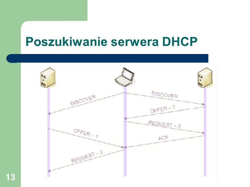 13 Poszukiwanie serwera DHCP