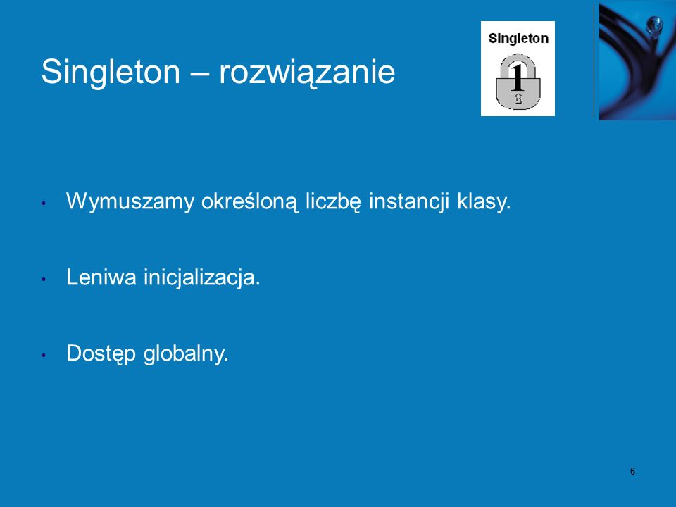 7 Singleton – diagram klas