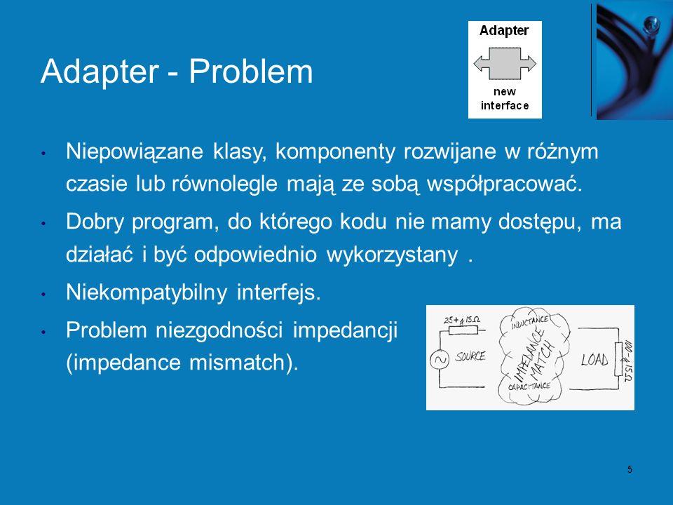 6 Adapter - Rozwiązanie Osłaniamy istniejący kod nowymi interfejsami.