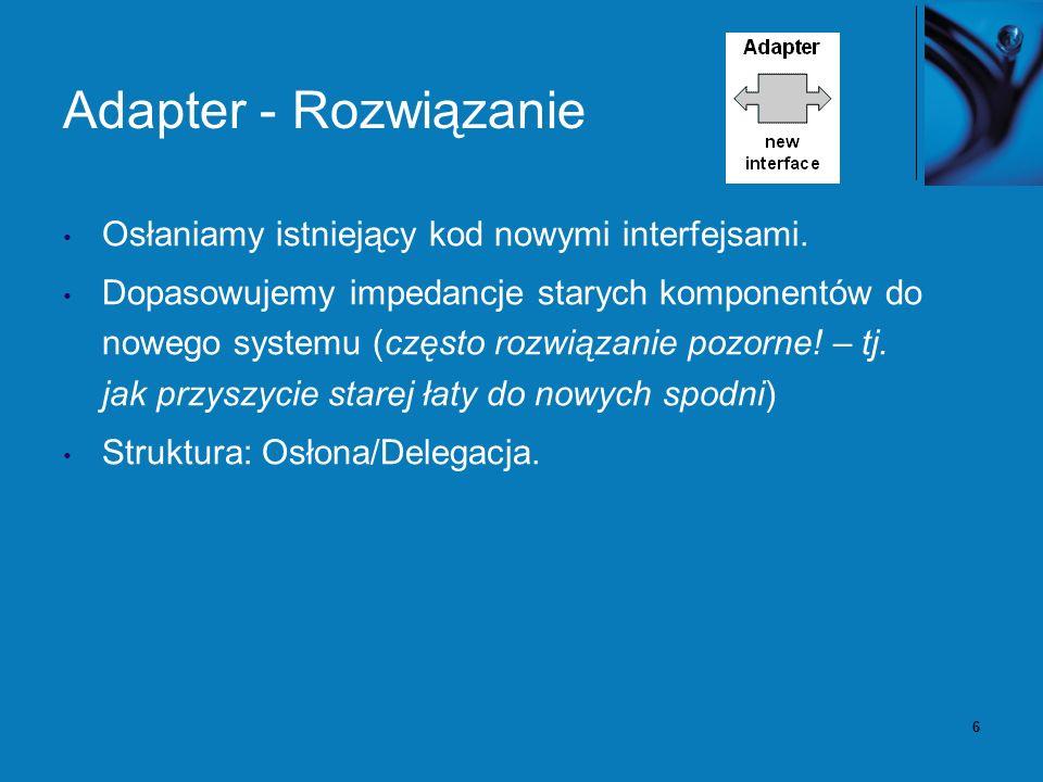 7 Adapter – diagram klas