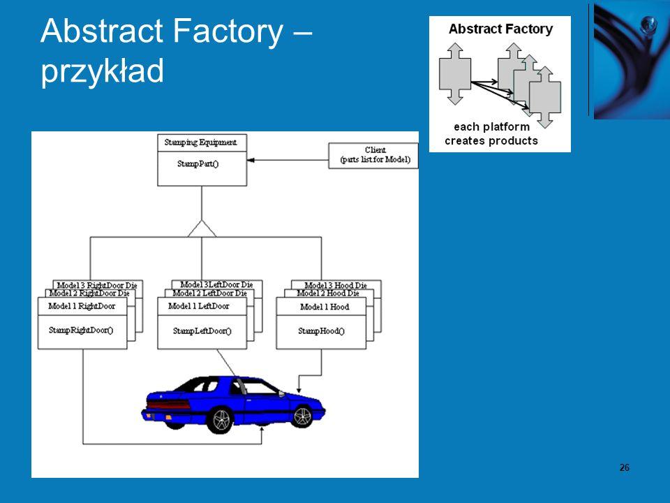 26 Abstract Factory – przykład