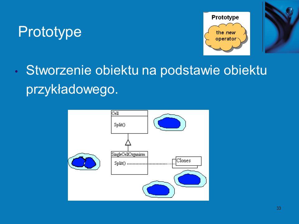 33 Prototype Stworzenie obiektu na podstawie obiektu przykładowego.