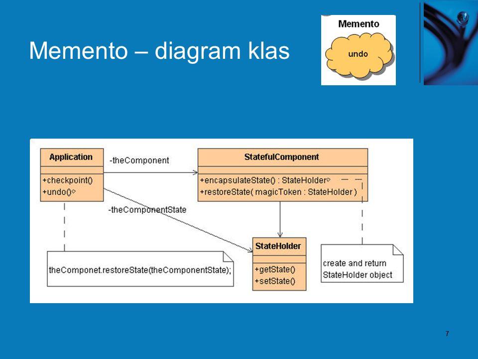 7 Memento – diagram klas