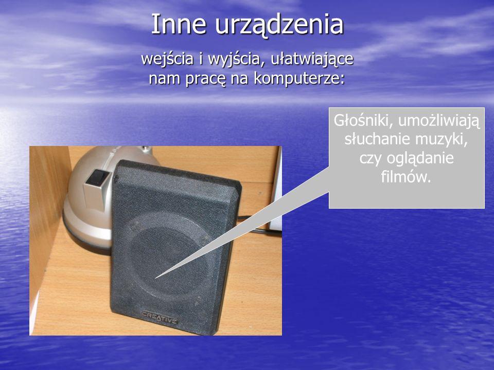 Inne urządzenia wejścia i wyjścia, ułatwiające nam pracę na komputerze: www.foto-bogutti.pl Drukarka, publikująca dokumenty po kliknięciu przyciskiem myszki.