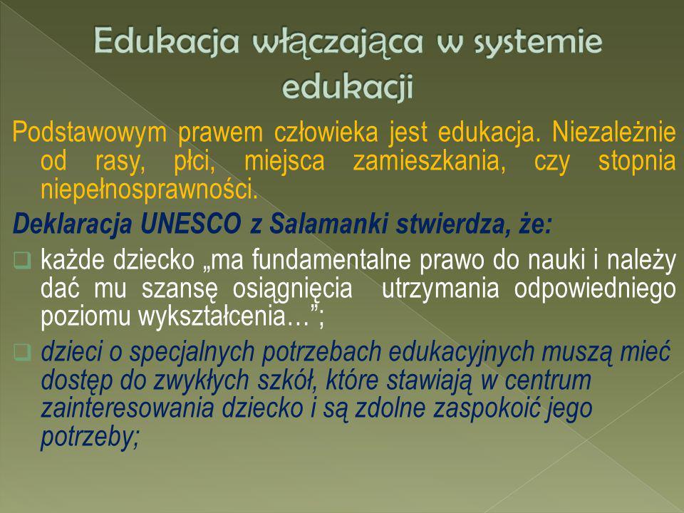 Podstawowym prawem człowieka jest edukacja. Niezależnie od rasy, płci, miejsca zamieszkania, czy stopnia niepełnosprawności. Deklaracja UNESCO z Salam