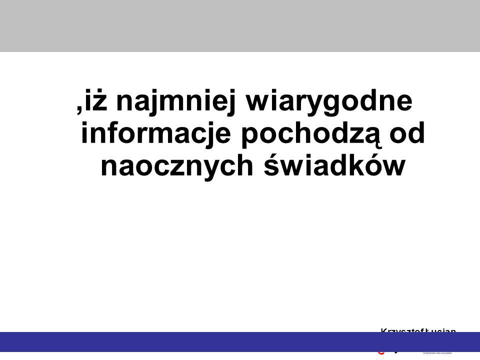 Krzysztof Łucjan Koncepcja sesji rekordowych