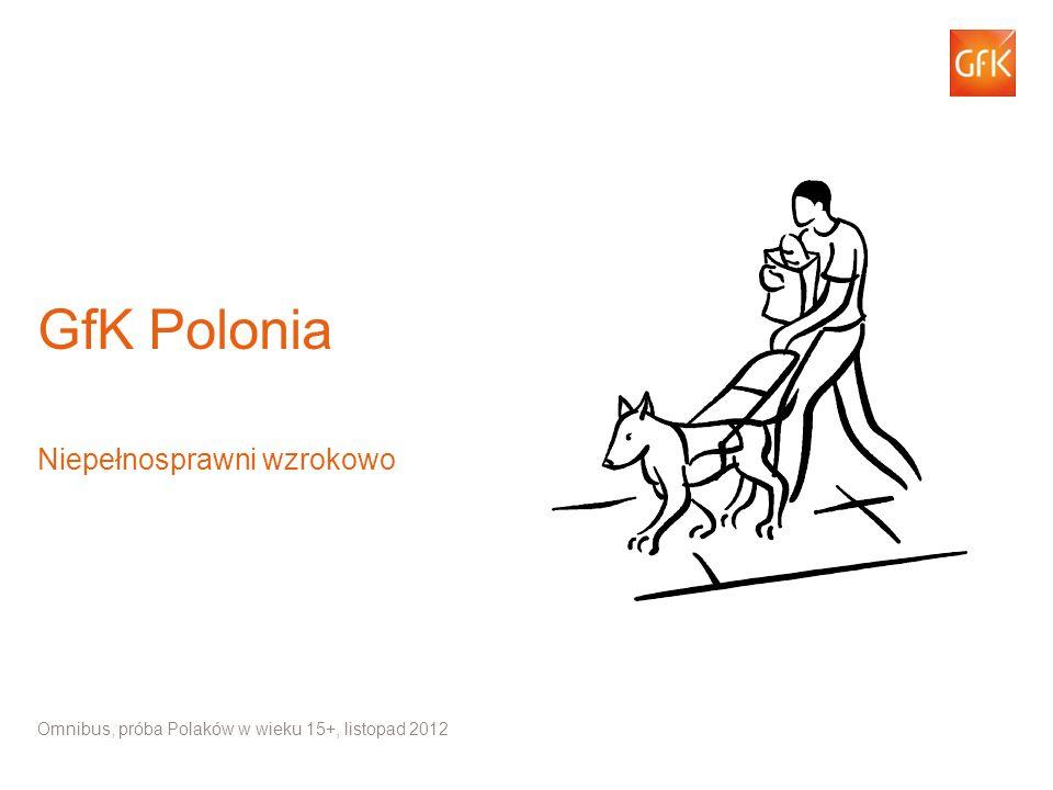 1 Omnibus, próba Polaków w wieku 15+, listopad 2012 / GfK Polonia Niepełnosprawni wzrokowo Omnibus, próba Polaków w wieku 15+, listopad 2012