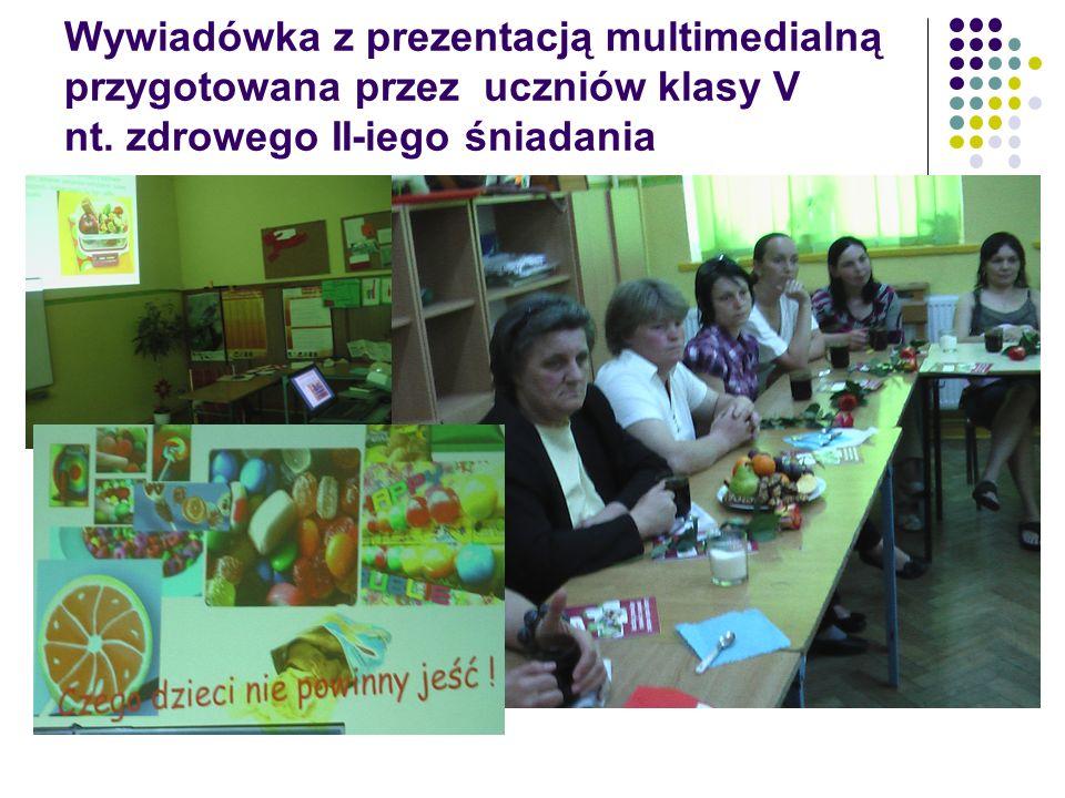 Wywiadówka z prezentacją multimedialną przygotowana przez uczniów klasy V nt.