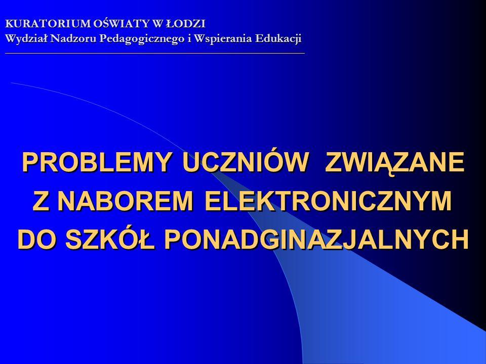 opracowanie Jarosław Owsiański WNPiWE Kuratorium Oświaty w Łodzi opracowanie Jarosław Owsiański WNPiWE Kuratorium Oświaty w Łodzi KURATORIUM OŚWIATY W ŁODZI Wydział Nadzoru Pedagogicznego i Wspierania Edukacji __________________________________________________________________________