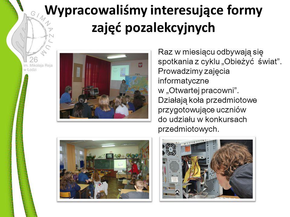 Realizujemy ciekawe projekty W roku szkolnym 2010/2011 odnieśliśmy sukcesy w projektach: Rozwiń Ż agle w Łodzi, Jestem Fair.