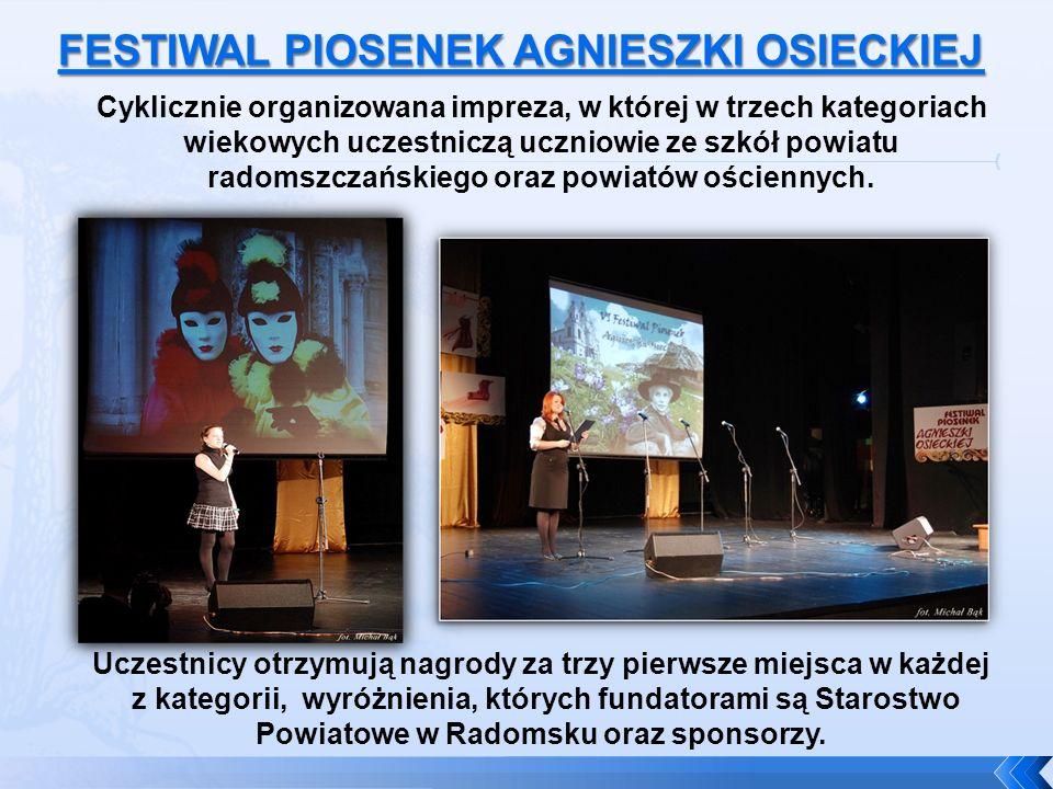 Cyklicznie organizowana impreza, w której w trzech kategoriach wiekowych uczestniczą uczniowie ze szkół powiatu radomszczańskiego oraz powiatów ościen