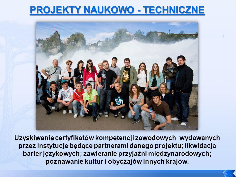 Uzyskiwanie certyfikatów kompetencji zawodowych wydawanych przez instytucje będące partnerami danego projektu; likwidacja barier językowych; zawieranie przyjaźni międzynarodowych; poznawanie kultur i obyczajów innych krajów.