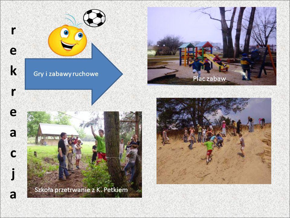 Gry i zabawy ruchowe Szkoła przetrwanie z K. Petkiem Plac zabaw