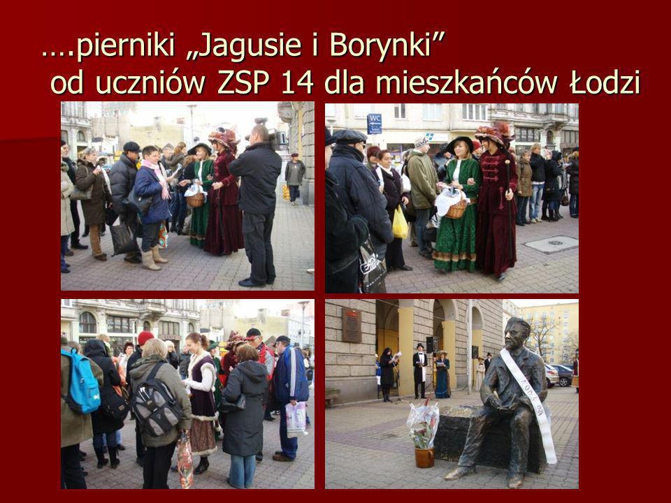 ….pierniki Jagusie i Borynki od uczniów ZSP 14 dla mieszkańców Łodzi
