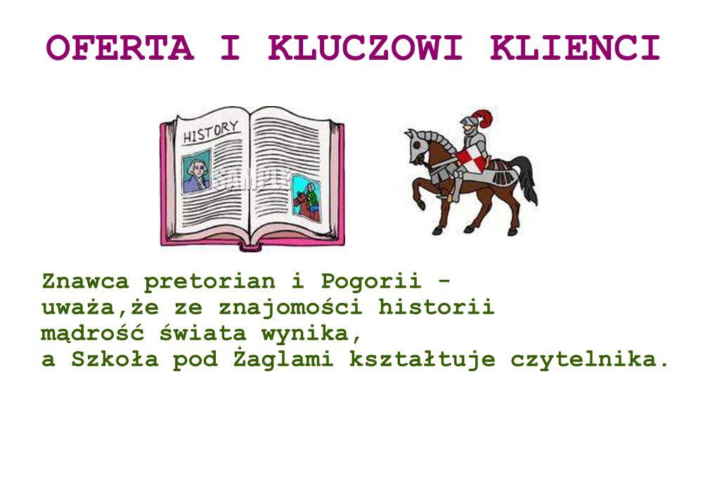 Znawca pretorian i Pogorii - uważa,że ze znajomości historii mądrość świata wynika, a Szkoła pod Żaglami kształtuje czytelnika. OFERTA I KLUCZOWI KLIE