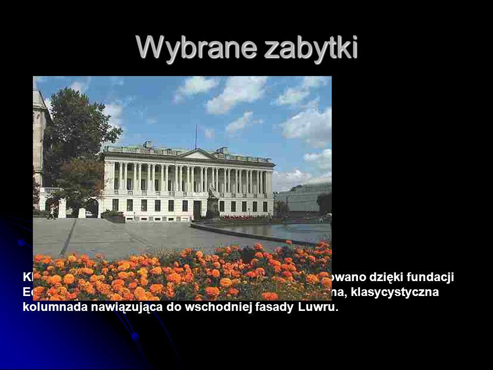 Wybrane zabytki Klasycystyczny gmach Biblioteki Raczyńskich zbudowano dzięki fundacji Edwarda Raczyńskiego (1 poł. XIX w.). Zdobi go piękna, klasycyst