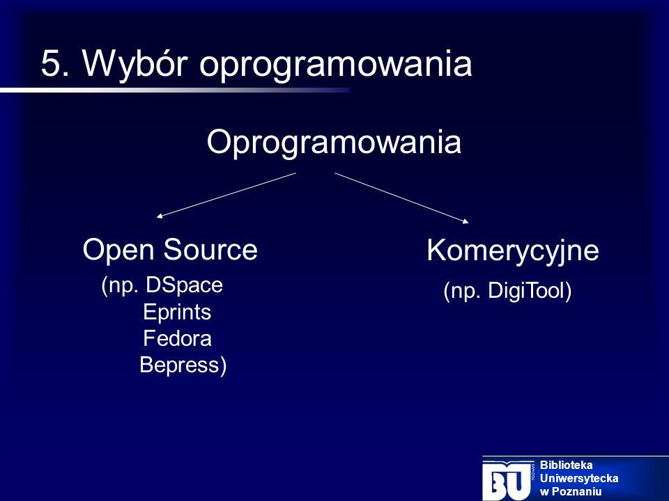 4. Potrzeby użytkowników Użytkownik – naukowiec (depozytariusz) Użytkownik końcowy Biblioteka Uniwersytecka w Poznaniu