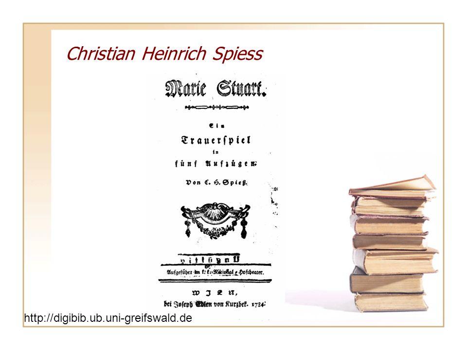 Christian Heinrich Spiess http://digibib.ub.uni-greifswald.de/