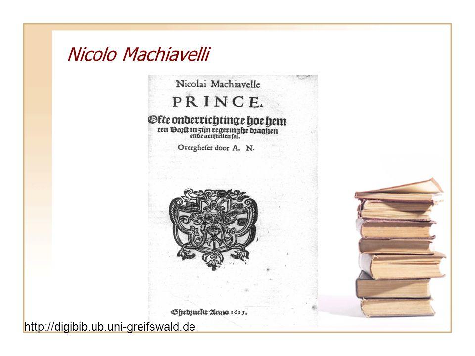 Nicolo Machiavelli http://digibib.ub.uni-greifswald.de/
