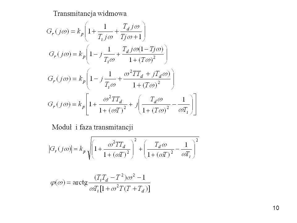 10 Transmitancja widmowa Moduł i faza transmitancji