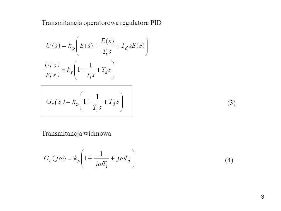 4 Charakterystyki częstotliwościowe charakterystyka amplitudowo-fazowa = 0 0 kpkp = Im[G r ] Re[G r ] charakterystyki logarytmiczne