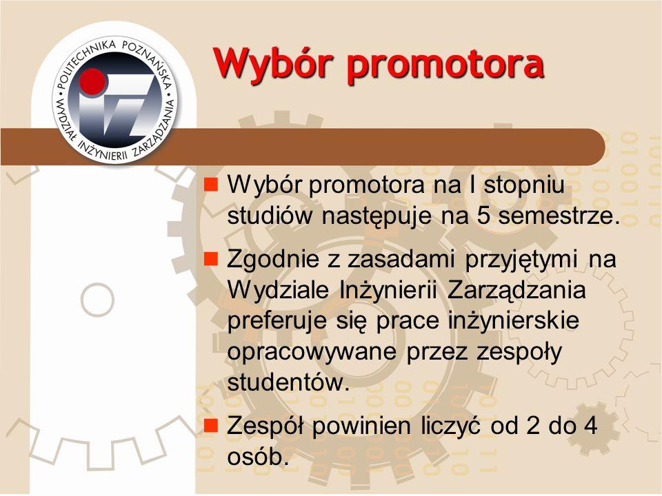 Wybór promotora dr hab.Stanisław Popławski, prof.