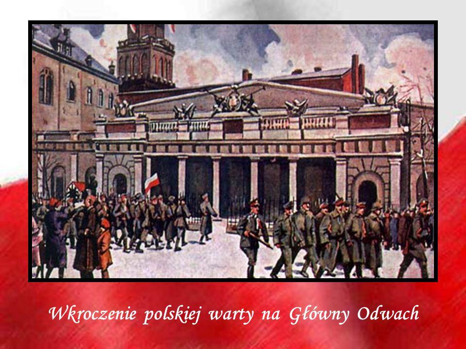 Wkroczenie polskiej warty na Główny Odwach
