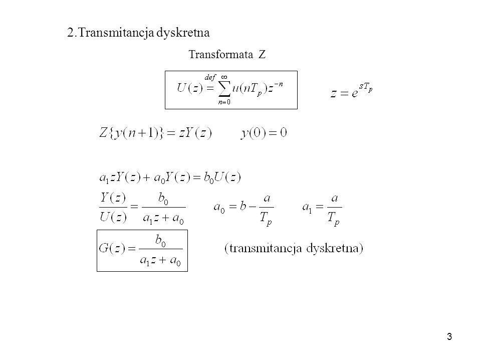3 2.Transmitancja dyskretna Transformata Z