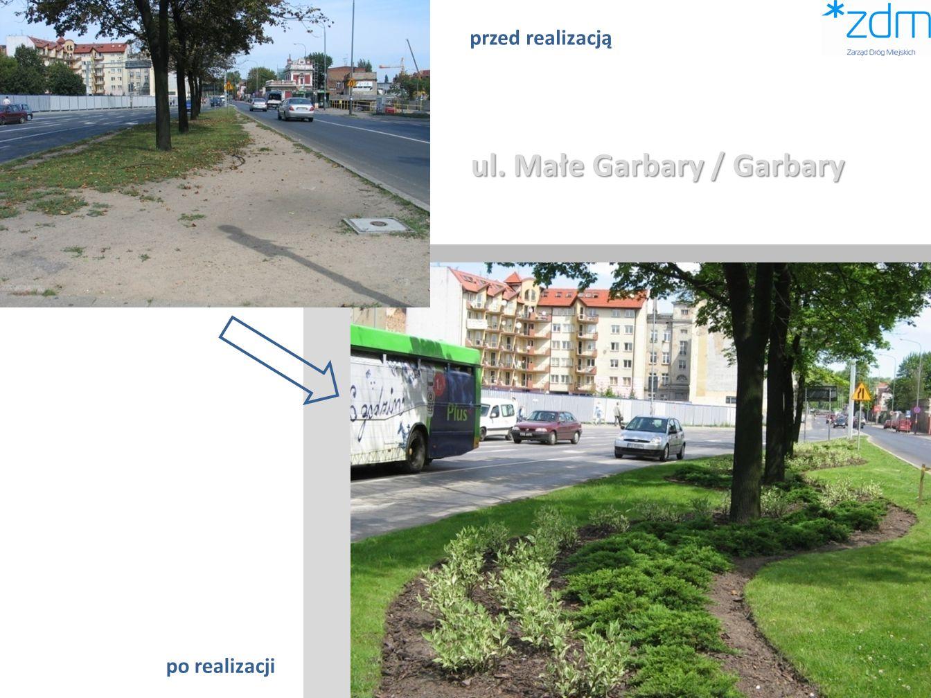 ul. Małe Garbary / Garbary przed realizacją po realizacji