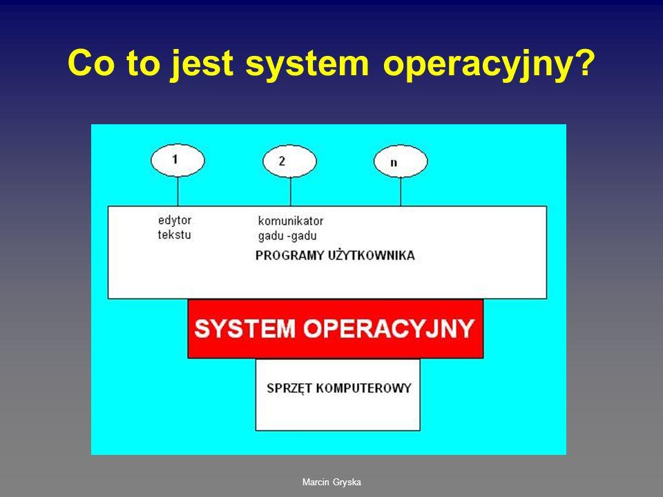 Marcin Gryska Co to jest system operacyjny?