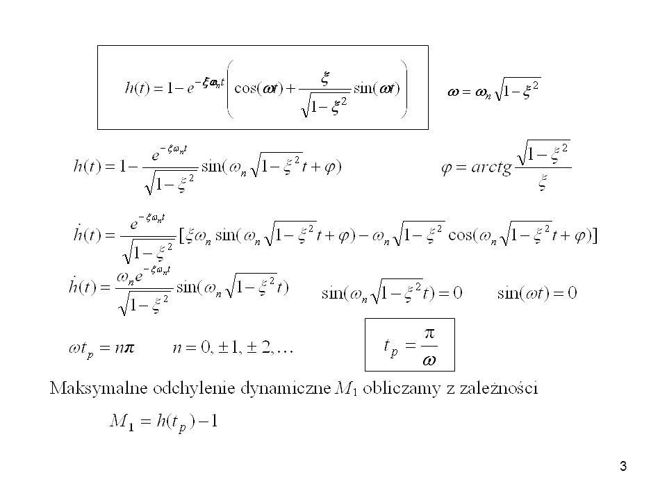14 - Lm 0 ( ) 0 ( ) Lm g [dB] [ o ] Logarytmiczne kryterium Nyquista